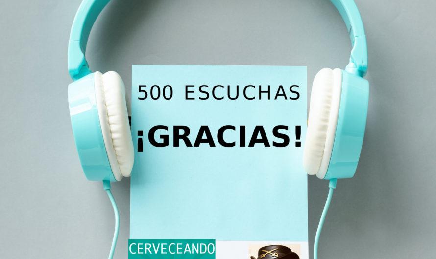 COMUNICADO GRACIAS POR LAS 500 ESCUCHAS!